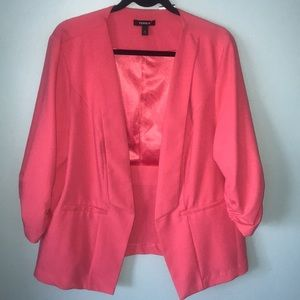 Torrid 2 open front ruched sleeve jacket